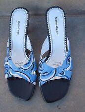 """""""NATURALIZER"""" Women's Slides/Slip-on Shoes Geometric Design Blues/White 8 Med."""