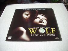 WOLF - LA BELVA E' FUORI   2LD / laserdisc film in italiano