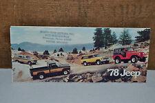 1978 Original Rare Dealer PITT,PA Jeep CJ5 7 Renegade Chief Honcho Sale Brochure