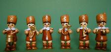 6x Bergleute Figuren natur Weihnachtsdeko basteln für Pyramide 6 cm neu 0544