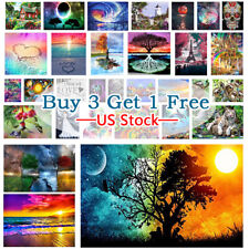 5D Full Drill Diy Diamond Painting Embroidery Manual Cross Stitch Kit Wall Decor