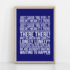 More details for radiohead there there song lyrics poster print wall art