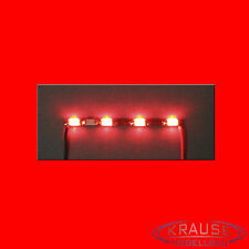 Miniatur Lichtleiste 4 SMD LEDs Typ 1206 rot Modellbahn Kirmes Modellbau