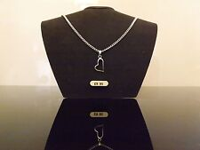 """10 Silver Plated 18"""" Necklaces with Heart Pendants Wholesale Jewellery Job Lot"""