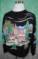 Christmas on Main Street Ugly Christmas Sweater Style Sweatshirt (D20)