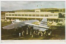 SUPERB REAL PHOTO CARD MANX AIRLINES PLANE AT ISLE OF MAN AIRPORT 1958 DAKOTA