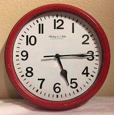 Sterling & Noble Wall Clock Red  9''  Round