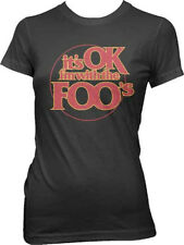 Foo Fighters-It's Ok-I'm With The Foos-Girl's Junior Small Black T-shirt