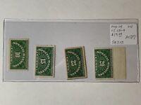 1925-29 USA Stamp Lot AD87 Catalog QE1-4 Green