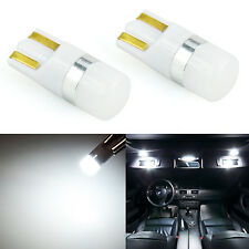 JDM ASTAR 2x T10 Wedge 3030 SMD LED License Plate Light Bulb 194 168 2825 White