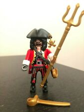 Playmobil Pirate Captain Figure with Sword,Trident, Hook, Hat. Mystery Series 11