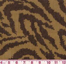 PK Lifestyles Animal Stripe Woven Upholstery Fabric Zebra Oasis Porcini BTY
