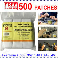 Square Gun Cleaning Cotton Patches Bulk 0.357 0.38 0.40 0.45 9mm Hunting 500Pc