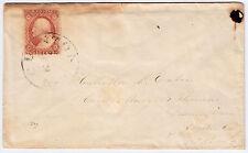 "#26A-3 Cents 1857, 55L10e, ""CLINTON/xx/xx/N.J."" CDS to Downingtown, Pa (1858)"