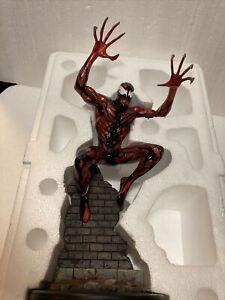 MARVEL BOWEN Spiderman Foe CARNAGE FULL SIZE Statue LE 820/1200  Damaged see pic