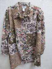 Womans Clothes ~❤️~ 1X Brylane Woman Button Down Shirt