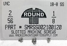 #2-56x1/8 Round Head Slotted Machine Screws Stainless Steel (50)