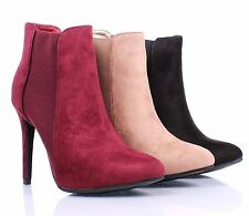 """3 Color Fashion Slip On Only Casual Stilettos 4.5"""" Heels Women Ankle Boots"""