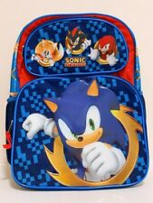 """Sonic the Hedgehog 16"""" Large Full Size Back to School Book Bag Backpack"""