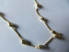 Pretty Sterling silver yellow gold vermeil fancy link chain necklace YASH456