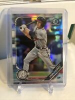 Drew Waters 2019 Bowman Chrome Prospects Refractor 117/499 Braves #2 Prospect