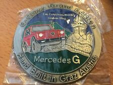 Mercedes G Modell Emblem Abzeichen Plakette G-Klasse Schöckl GrandEdition Silber