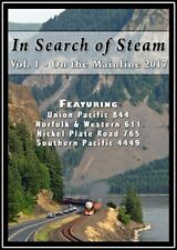 IN SEARCH OF STEAM VOL 1 ON THE MAINLINE 2017 STEAM TRAIN VIDEOS NEW DVD SP, UP