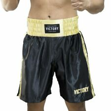 New Victory Boxing Fight Shorts Classic Series Black/Gold Polyester