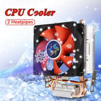 8cm Mini CPU Cooler 2 Heatpipes Cooling Fan for LGA 775/1155/1156 AMD AM2