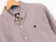 Mr. _ Vntg APR211 G-Star Raw Camisa Corregir L/S Top Gris Premium TALLA L