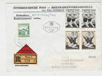 Austria 1965 Registered Wien Cancel FDC Multiple Gymnast Stamps Cover Ref 27512
