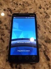 HTC Evo 4G PC36100 (Sprint- Freedompop) Black Smartphone READ