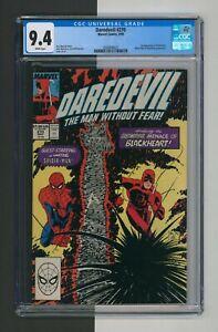 Daredevil #270, CGC 9.4, 1st Blackheart, White Pages, Marvel Comics, 1989