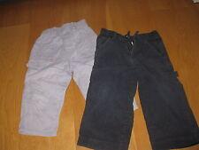 2 Arbeitshose Jungen Gr.  86 von Mexx impidimpi grau Cordhose Outdoorhose