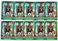 x10 ANTHONY EDWARDS 2020-21 Prizm Draft ALL GREEN REFRACTOR #81 Rookie Card lot!