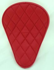 Motorradsattel Bobber Seat , rote Rauten,roter Keder, ca. 25 x 32 cm