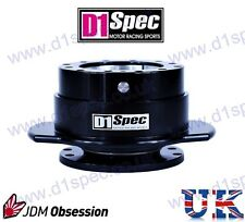 D1 SPEC UNIVERSAL RACING PADDLE STEERING WHEEL QUICK-RELEASE BLACK JDM DRIFT