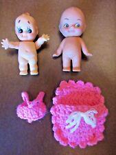 2 Vintage Kewpie Dolls (4 1/2 In.)