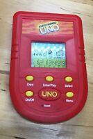 UNO Electronic Handheld Travel Card Game Mattel 2001