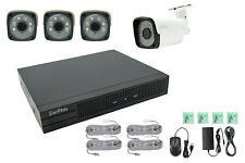 Kit videosorveglianza NVR POE h264 4 telecamere 2mp IP 4ch