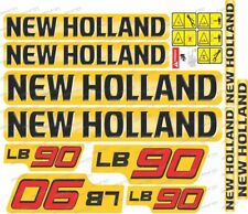 New Holland LB90 Backhoe Decal / Adhesive / Sticker Complete Set