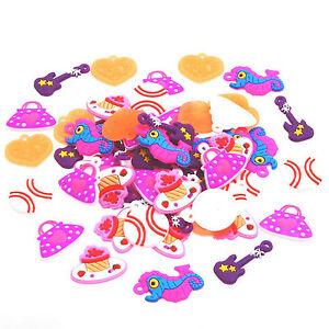 Colourful Loom Band Charms/Pendant, 10, 50, or 100 , Random Mix