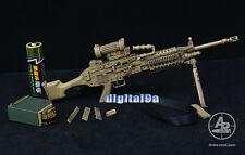 "* 1:6 MK 48 Light Machine Gun LMG Camoufla Arms Rack For 12"" Action Figure Use *"