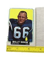 1964 TCG Football #38 BILLY SHAW Buffalo Bills, guard