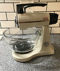 Vintage Sunbeam Mixmaster 12-Speed Kitchen Mixer #2360 With Glass Bowl Accessory