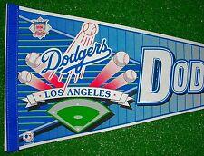 "VINTAGE LOS ANGELES DODGERS FULL SIZE PENNANT 30"" MLB BASEBALL LARGE 1980s RARE"