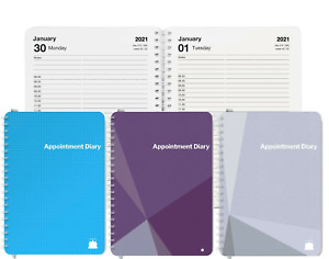 Day per Page Appointment Diary Book | A5 & A4 | 2021-2022 | Start Any Month!