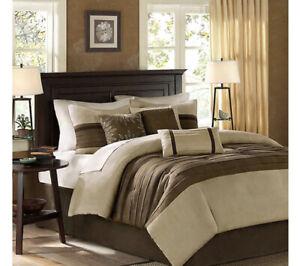Madison Park Palmer Microsuede 7-Pc. California King Comforter Set $310 j