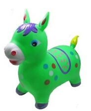 INFLATABLE JUMPING GREEN HORSE Bouncy animal, bouncy Green TOYS KIDS