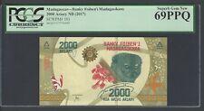 Madagascar 2000 Ariary ND(2017) P101 Uncirculated Grade 69